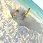 Digging in the sand!