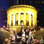 Shrine of Remembrance at Dawn Service on ANZAC DAY.