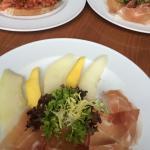 Yummy starters - Parma ham & melon, bruschetta