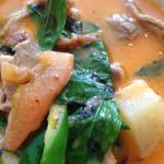 Duck basil curry
