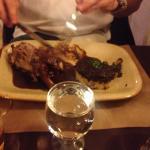 Lamb shank with amazing potatoes