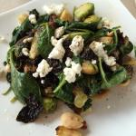 Warm Brusselsprouts salad