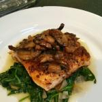 Metropolitan Organic salmon with spinach and mushrooms
