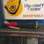 Enjoying the bed of nails!!