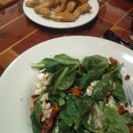 Spinach Salad & Calamari