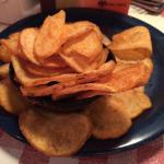 Homemade potato chips served prior to each meal.