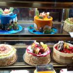 Great assortment of cakes