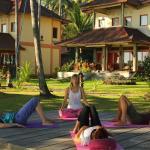 yoga under palmtrees