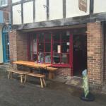 A lovely Black & White cafe in Church Street.