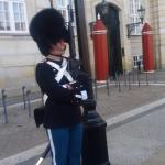 One of the guards cracking a smile during our tour with Jarod.  Excellent tour guide we had a gr