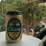 Evening with Chang on my balcony
