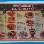 menu / calendar