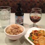 Spicy basil chicken w/ Belgian stout