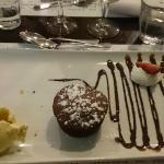 moelleux chocolat et sa glace vanille