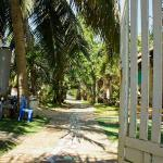 The gate from the beach