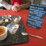 L'assiette de dessert du menu découverte