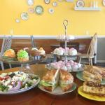 nutmegs offers a variety of salads, sandwiches and desserts!