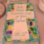 My baby boys Baptism cake from CS Bakery. Made exactly how I requested & tasted wonderful!