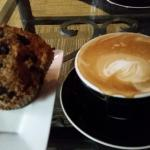 Flat White and Blueberry Muffin - $8