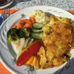 Rosti with vegetables, delicious!