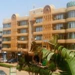From the Hotel room overlooking 10 Avenue Kwame N'Krumah