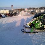 Fenced Snowmobile Parking