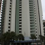 Front of hotel from parking deck