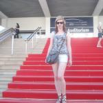 My daughter on the red carpet of the Palais de Festivals de Cannes