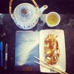 Studying yoga sutras & sushi...a delicious afternoon!!
