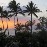 Sunset from our Lanai looking out to the water.
