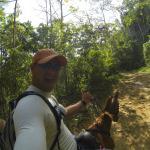 On my horse to Nauyaca waterfalls, Domical Costa Rica