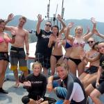 Good times, finishing open water course