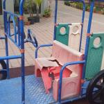 Broken Toy Car in Childrens Play Area