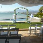 The wedding setting