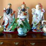 Chinese Gods in the Hotel Lobby