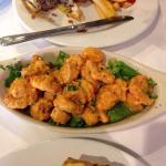 Shrimp and a burger
