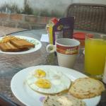 Breakfast for two, small but tasty