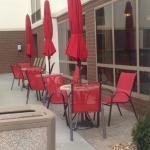 Outside breakfast seating