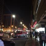 Sidewalk full of prostitutes