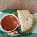 Half Sandwich -Turkey&Swiss plus Tomato soup
