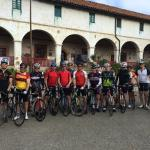 Our group ready to hit Gibraltar Rd,, leaving from Santa Barbara Mission