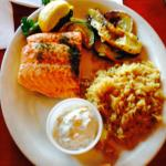Broiled North Atlantic Salmon Fillet w/Cucumber Dill