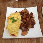 Create your own omelette with potatoes
