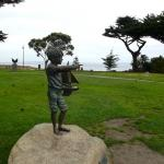 Boy with sailboat memorial