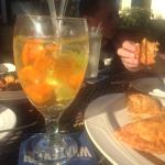 White wine sangria and empanadas!