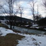 Free flowing creek is beautiful and attracts deer and other wildlife.