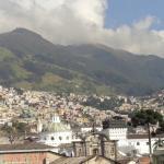 Vista de Quito colonial, desde la terraza