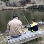 My Son and his Papa doing some fishing
