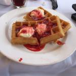 Strawberries and Creme Waffles