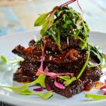 Braised Beef Ribs with Sesame Spinich